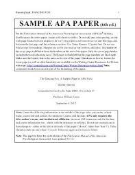 Sample Apa Paper Running Head Sample Apa 1 Sample Apa Formatted Paper For