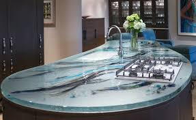 glassart by mailhot painted glass countertop photo source thinkglass com