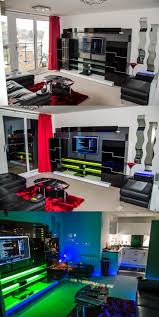 game room lighting ideas. led lighting in a sleek media entertainment center via user the_one the digital spy gameroom ideasgaming game room ideas o