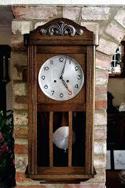 vintage art deco german 8 day oak wall clocks with chimes 8 inch diameter wall clock