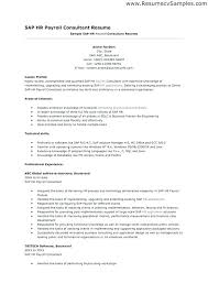 Sample Hr Professional Consultant Resume Abap Developer Sample Resume Podarki Co