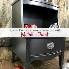 Silver paint for furniture Silver French Just The Woods Llc How To Paint Glamorous Furniture With Metallic Paint