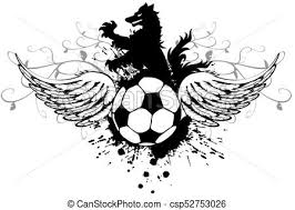 入れ墨 コート Heraldic Futbol 黒 狼 サッカー Arms4