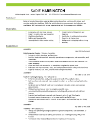 best assembler resume example livecareer create my resume