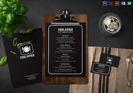 Menu Card Template Restaurant Menu And Business Card Template
