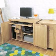 home office computer workstation. Hidden Home Desk | Hideaway Oak Office Computer Workstation