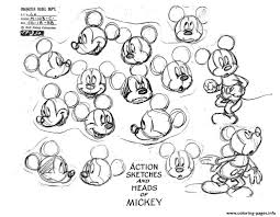 Adult Mickey Mouse Coloring Pages Printable
