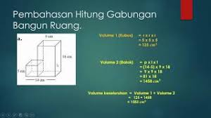 Besar volume kubus dapat diperoleh melalui panjang sisi pangkat tiga. Latihan Cara Menghitung Volume Gabungan Kubus Dan Balok Youtube