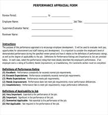 Sample Employee Goals For Performance Appraisal Self Form Filled