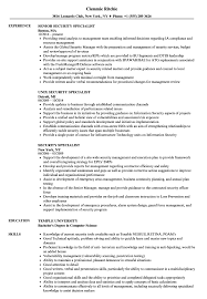 Security Specialist Resume Samples Velvet Jobs