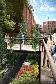 concept for a sunken garden at browns race high falls rochester ny