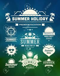 レトロな夏デザイン要素ベクトル イラストのイラスト素材ベクタ