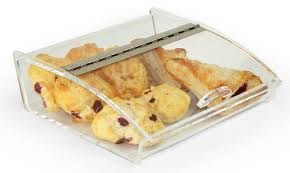 displays2go countertop food display case with curved lid clear acrylic with hinged door and non