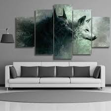 yin yang wolves 5 piece canvas on yin yang canvas wall art with yin yang wolves 5 piece canvas anjuna lane