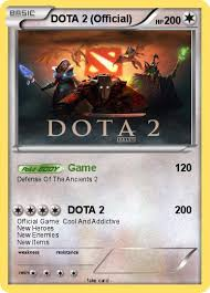 pok mon dota 2 official game my pokemon card