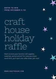Blue And Turquoise Stars Craft Raffle Flyer Templates By Canva