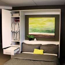 Cool Modern Murphy Bed With Couch On Bed