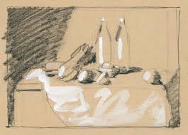 thumbnail sketch of still life position on buff paper artists magazine i often draw