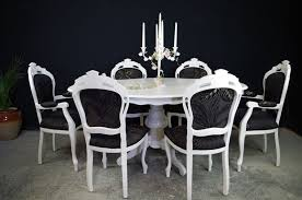 french country dining room painted furniture. Picture Of French Style Dining Table With 6 Louis Chairs Country Room Painted Furniture L