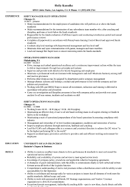 Shift Manager Resume Shift Operations Manager Resume Samples Velvet Jobs 9