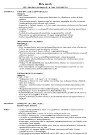 Shift Manager Resume Shift Operations Manager Resume Samples Velvet Jobs 9