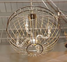 paul marra design metal sphere chandelier for at stdibs