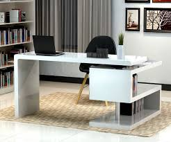 Home Office Desk Designs Remarkable Stunning Modern Home Office Desks With  Unique White Glossy Desk Design 2