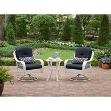 details about better homes and gardens azalea ridge 3 piece woven bistro set white seats 2