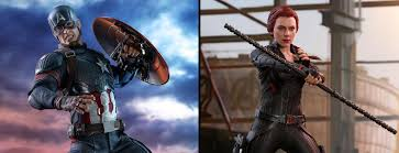 avengers endgame capn america and black widow by hot toys