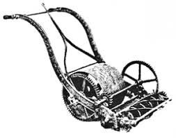 lawnmower drawing. english roller budding mower. \ lawnmower drawing