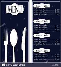 Menu Presentation Design Paper Design Chef Menu Illustration Stock Photos Paper