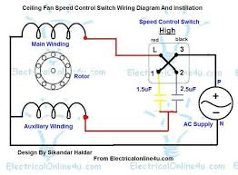 ceiling fan speed control switch wiring diagram fan motor speed control wiring diagram