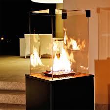 kratki real flame patio heater black