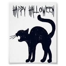 halloween black cat silhouette. Fine Halloween Halloween Black Cat Silhouette Poster With L