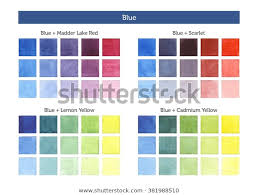 Color Chart Blue Mixing Others Primary Stock Illustration