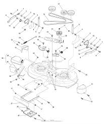 7800581 mt155420 15 5hp 42 hydro drive murray lawn tractor 2009 42 mower deck clutch support ⎙ print diagram