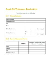 Appraisal Templates Interesting Employment Form Templates Employee Appraisal Template Evaluation