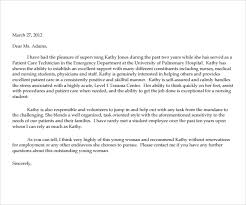 Nursing Reference Letter Examples Letter Of Recommendation