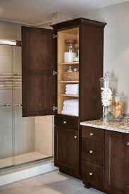 bathroom linen closet linen closet cabinet in maple umber bathroom linen closet shelving