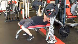 Bench Press With Chains 365 X 5 - YouTube