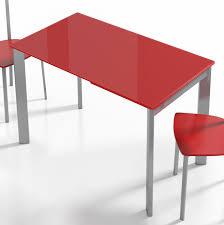 Esstisch Poker Glas rot Stahl von CANCIO