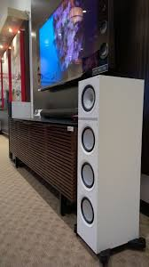 kef q500. i saw a pair of white kef speakers at monaco in pasadena california, they looked and sounded great too. wish could remember which model were. kef q500 l