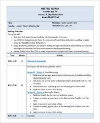 6 Team Meeting Agenda Sample Free Sample Example Format Download