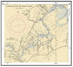 Continuation Of Trent River Pollocksville Marine Chart