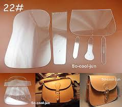Leather Templates 6pcs Leather Craft Acrylic Saddle Package Pattern Stencil Template