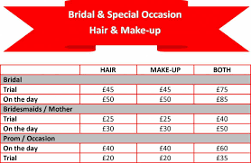 list for bridal occasion hair makeup jpg
