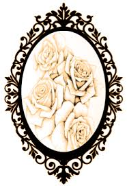 oval frame tattoo design. Its Gonna Be An Old Fashioned Oval Photo Frame Tattoo Design