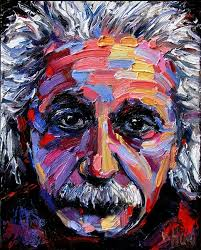 albert einstein portrait painting art by debra hurd