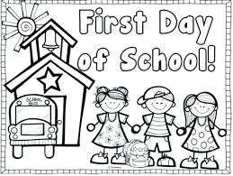 back to school coloring pages for preschool kindergarten school coloring pages first day of preschool coloring