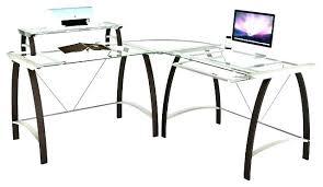 office depot glass computer desk. L Shaped Computer Desk Office Depot Glass Corner Top Ikea .